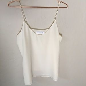 Double - Lined Silk V-Neck Cami